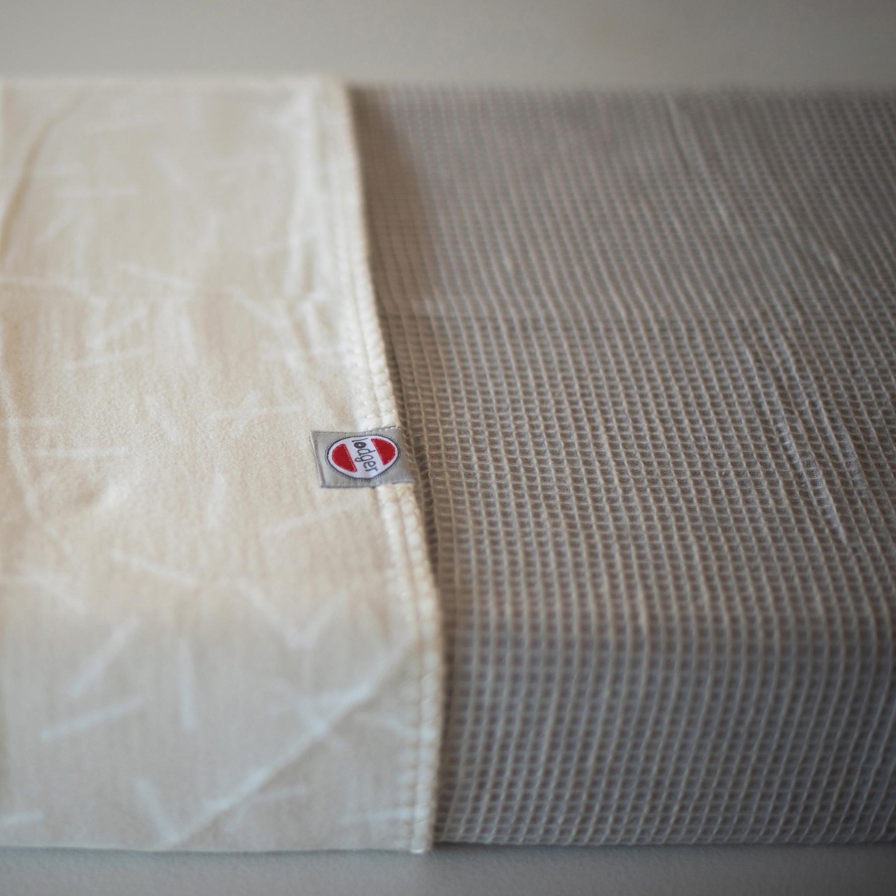 Lodger Scandinavian Baby Pram Warm Blanket 75 x 100 cm Beige