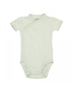 Crossover baby bodysuit short sleeves