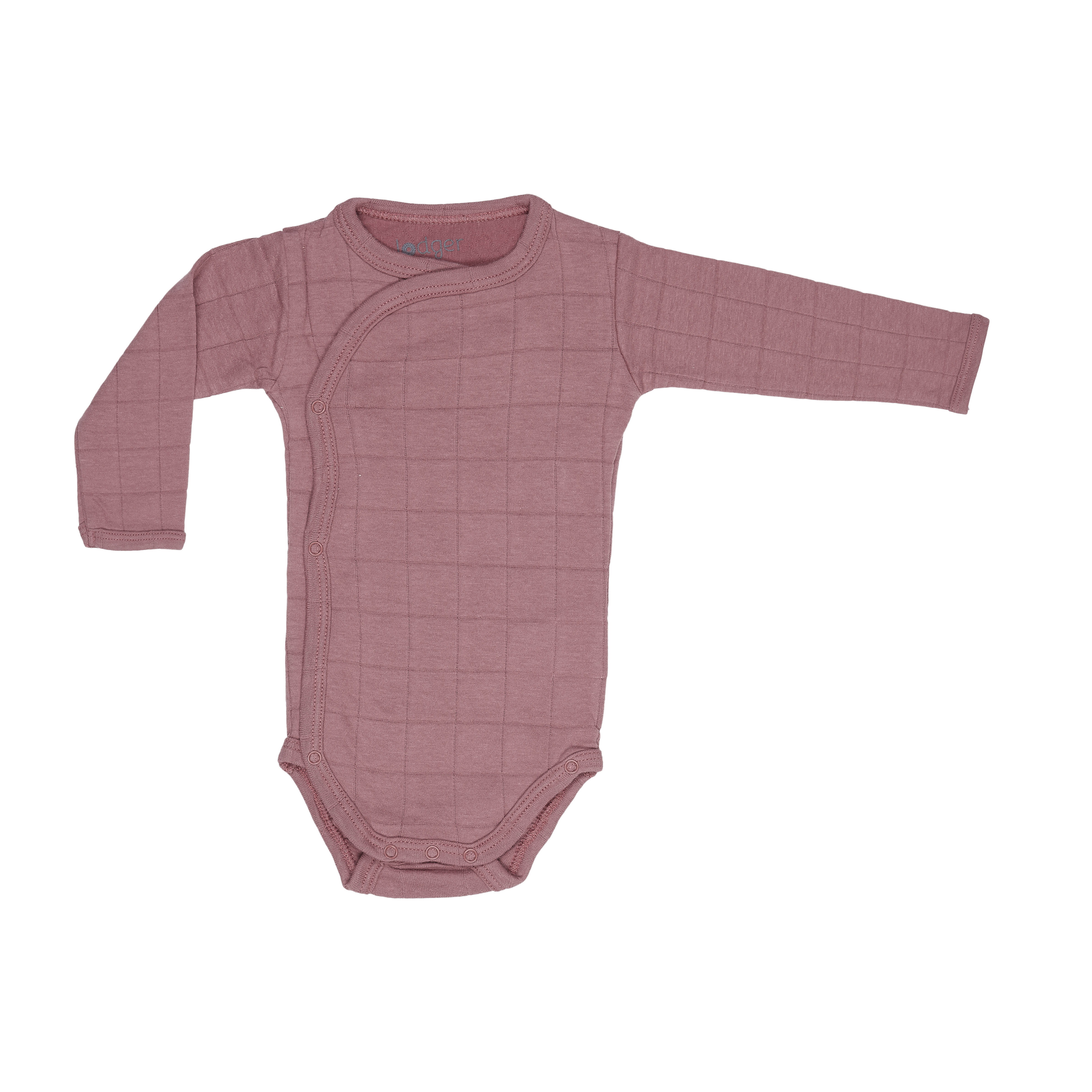 86a5f0958 Romper Solid wrap-around baby bodysuit with long sleeves