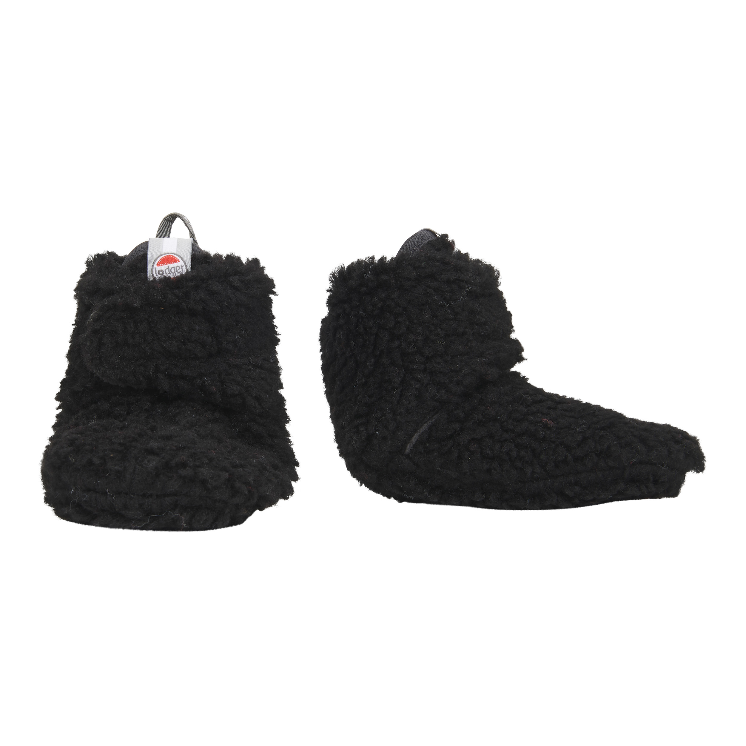 Lodger Teddy baby booties lined with