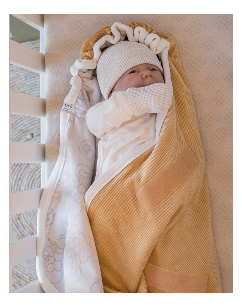 Lodger Einschlagdecke f/ür Babyschale Wrapper Newborn Grau