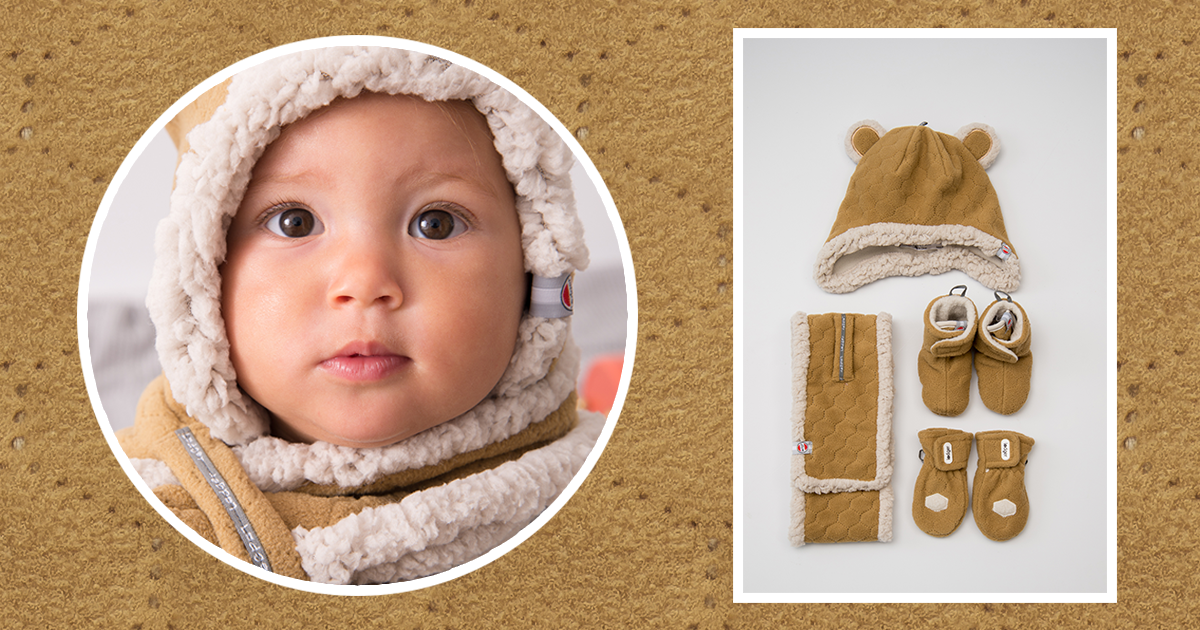 Warm Scarfs Hats And Mittens For Babies