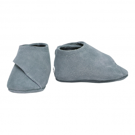 Soft leather baby slippers